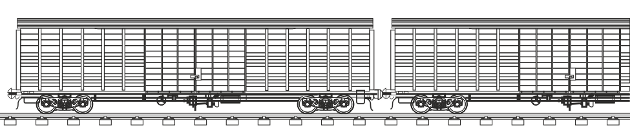 Wagon type: 1,520 mm private wagon
