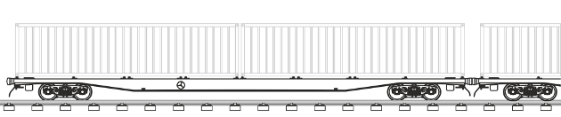 Wagon type: 1,520 mm private 40 ft containers